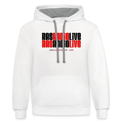 rasradiolive png - Contrast Hoodie