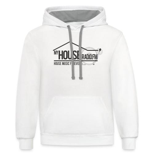 My House Radio Black Logo - Contrast Hoodie