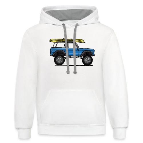 Ford Bronco Beach - Unisex Contrast Hoodie