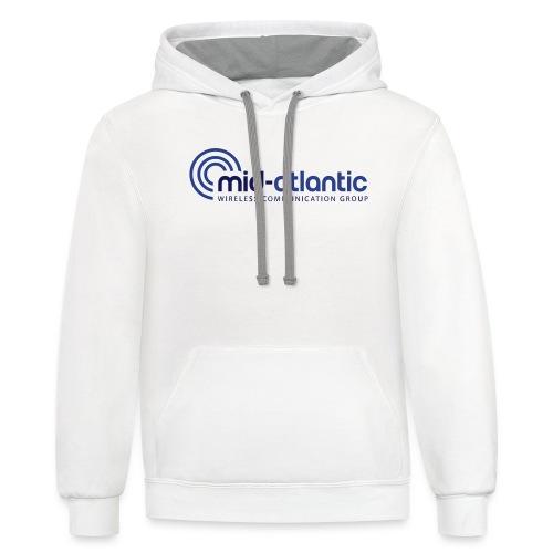 Mid Atlantic Wireless logo - Unisex Contrast Hoodie