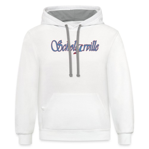 Welcome To Scholarville - Unisex Contrast Hoodie