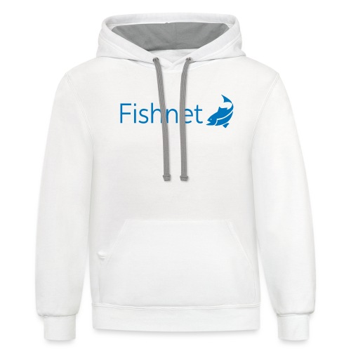 Fishnet (Blue) - Unisex Contrast Hoodie