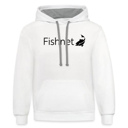 Fishnet (Black) - Unisex Contrast Hoodie