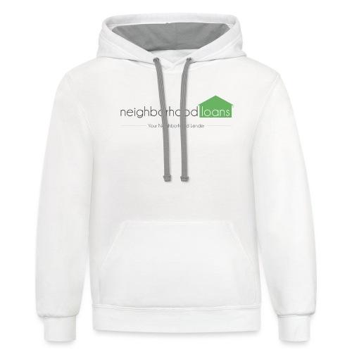 Neighborhood Loans White Items - Contrast Hoodie