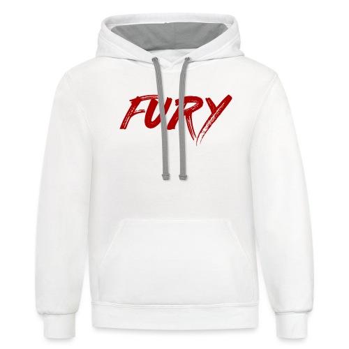 Fury Red - Unisex Contrast Hoodie
