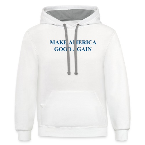 MAGOOA navy blue - Unisex Contrast Hoodie