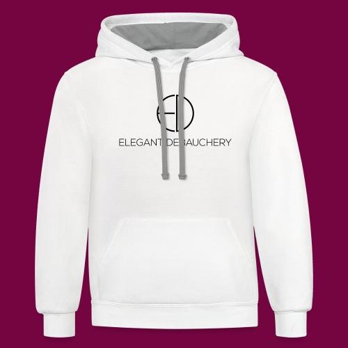Elegant Debauchery - Unisex Contrast Hoodie