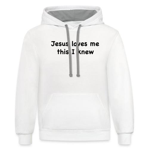 jesus loves me - Unisex Contrast Hoodie