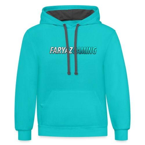 FaryazGaming Theme Text - Unisex Contrast Hoodie