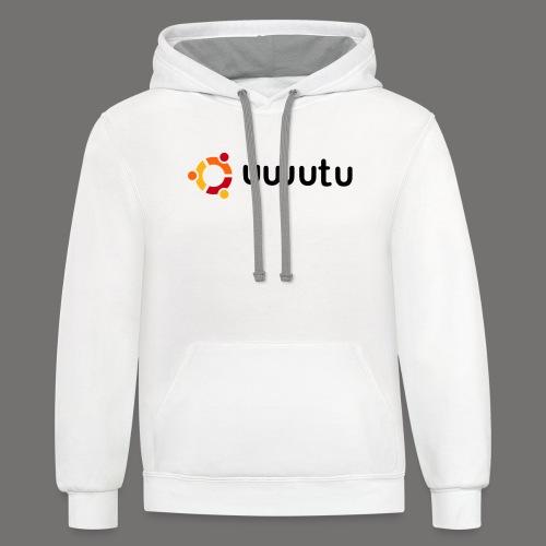 UWUTU - Contrast Hoodie
