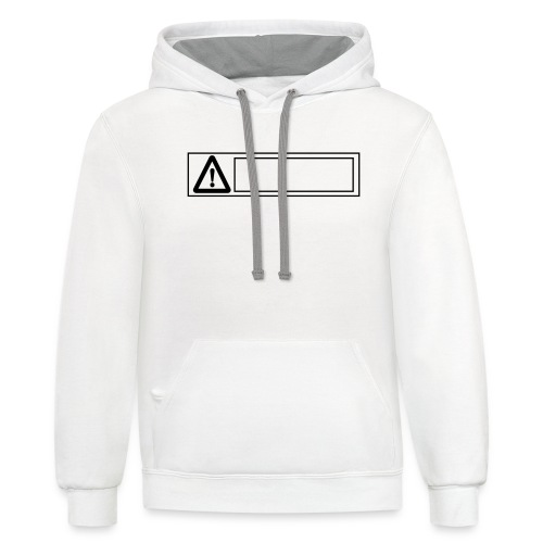 warning sign - Unisex Contrast Hoodie