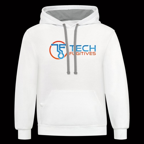 Tech Fugitives Logo T's and Gear - Unisex Contrast Hoodie
