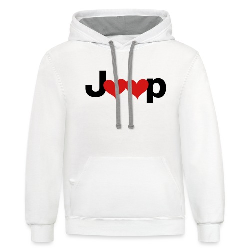 Jeep Love - Contrast Hoodie