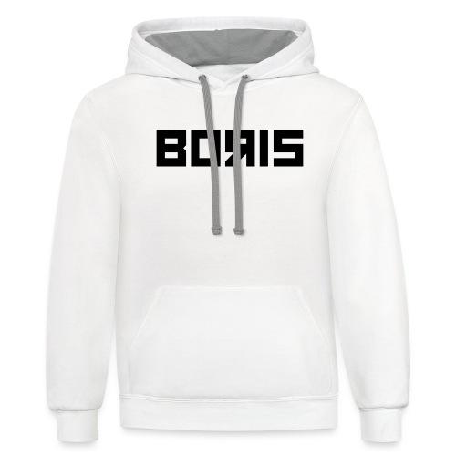 boris black - Contrast Hoodie