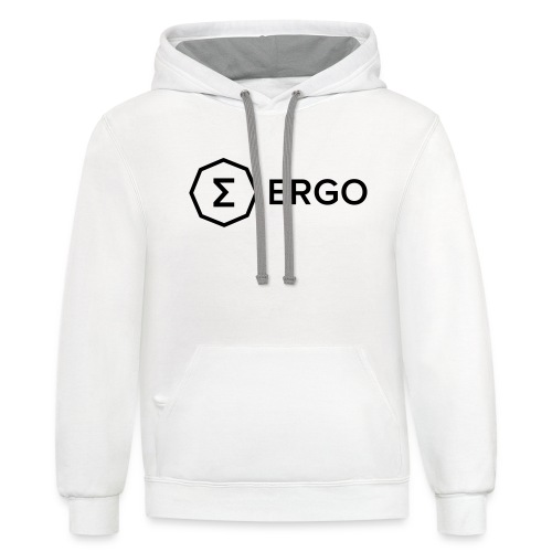 Ergo Symbol with Name - Unisex Contrast Hoodie