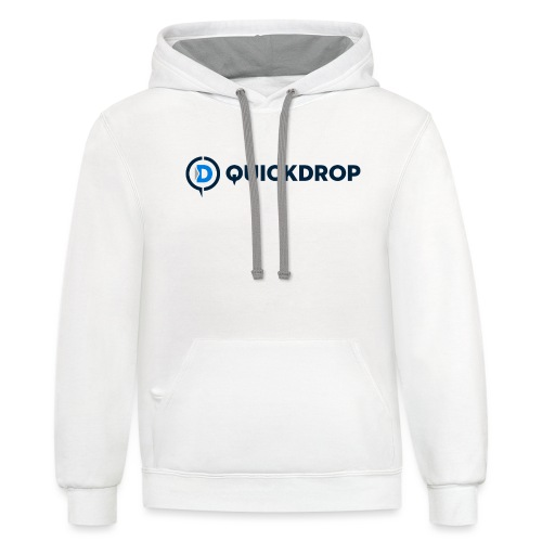QuickDrop - Unisex Contrast Hoodie