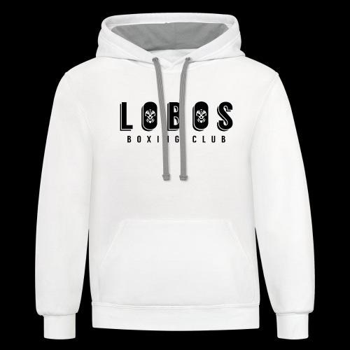 Lobo s Fancy No Apostrophe - Unisex Contrast Hoodie