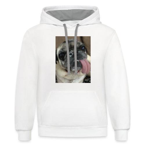 Pugdriving hoodies and tote bags - Unisex Contrast Hoodie