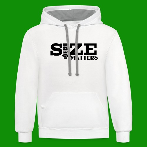 Size Matters Photography - Unisex Contrast Hoodie