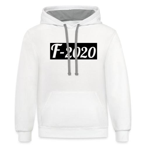 F-2020 - Unisex Contrast Hoodie