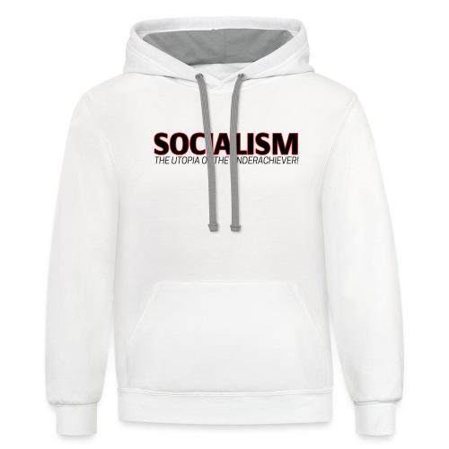 SOCIALISM UTOPIA - Contrast Hoodie