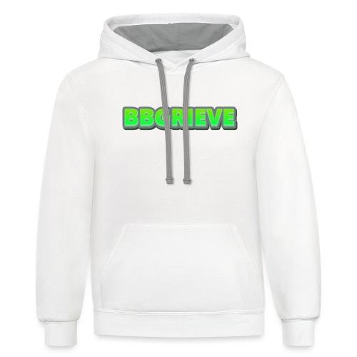BBGrieve Large Logo - Unisex Contrast Hoodie