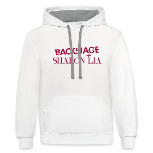 Backstage With Sharon Lia - Red - Unisex Contrast Hoodie