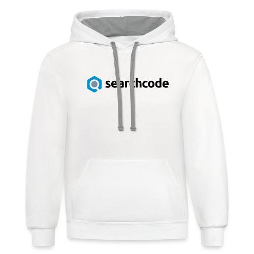 searchcode logo - Unisex Contrast Hoodie