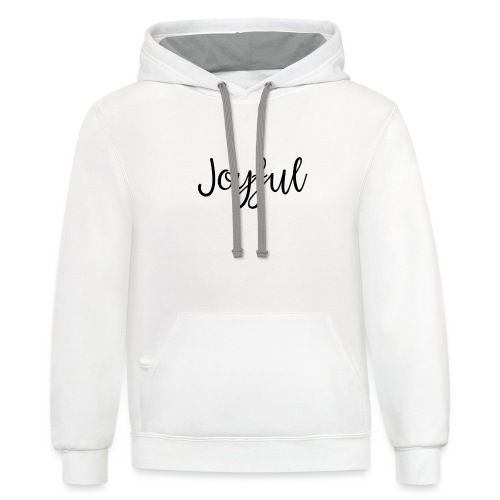 Joyful Bold - Unisex Contrast Hoodie