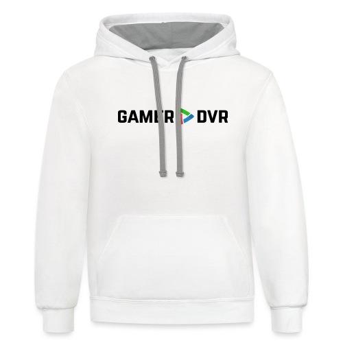 Gamer DVR Banner Black - Unisex Contrast Hoodie