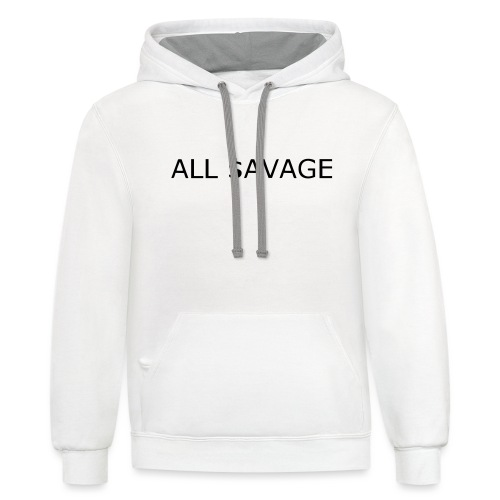 ALL $avage - Unisex Contrast Hoodie