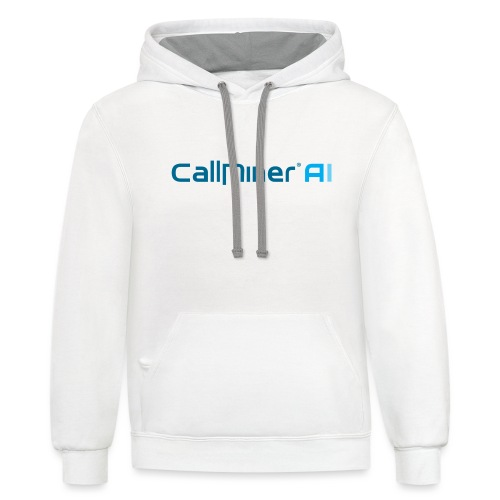 CallMiner AI - Blue on Light Swag - Contrast Hoodie