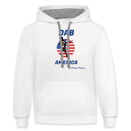 DAB AMERICA BLUE - Contrast Hoodie