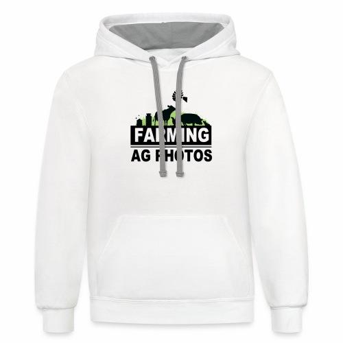 Farming Ag Photos - Contrast Hoodie