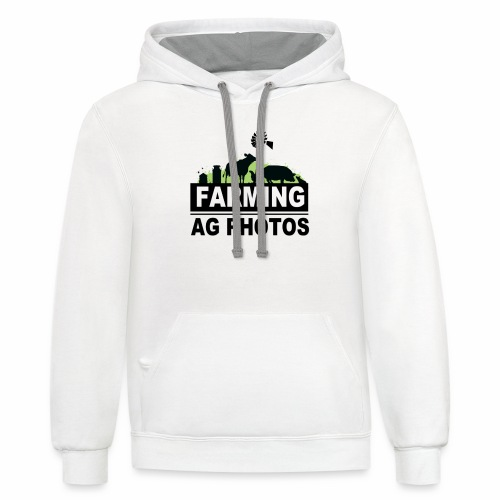 Farming Ag Photos - Unisex Contrast Hoodie