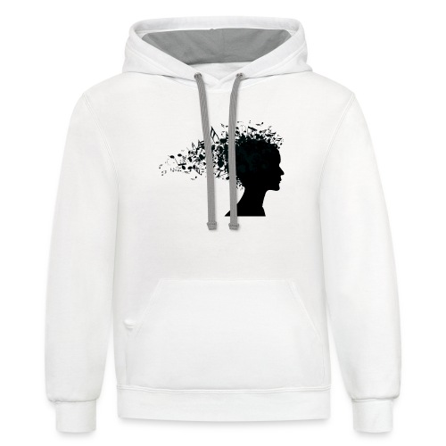 music through my head - Contrast Hoodie