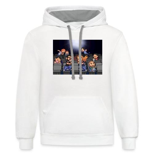 A Night at the Movies - Unisex Contrast Hoodie