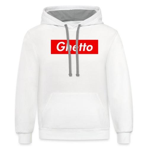 Ghetto Mal LOGO - Unisex Contrast Hoodie