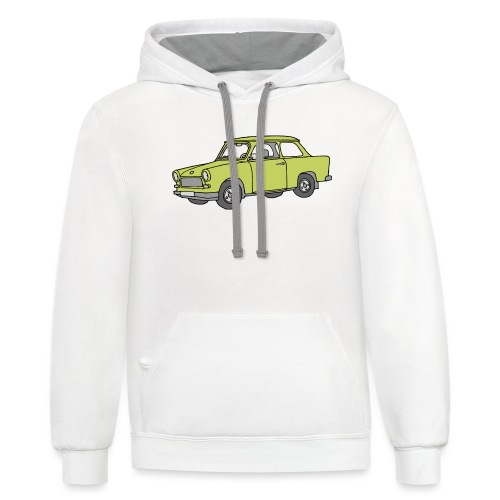 Trabant (baligreen car) - Contrast Hoodie
