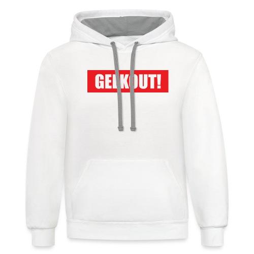 Geekout Gaming Apparel Branded Tee - Unisex Contrast Hoodie