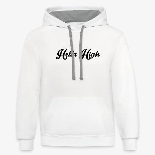Hella High Hoodie - Contrast Hoodie
