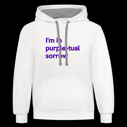 Purple-tual sorrow - Contrast Hoodie
