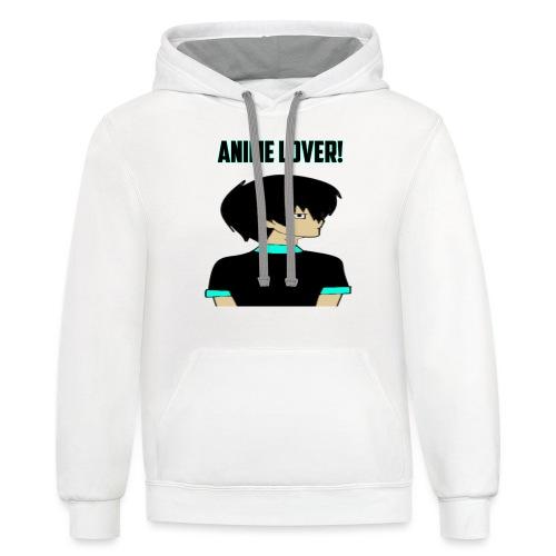 anime lover - Unisex Contrast Hoodie