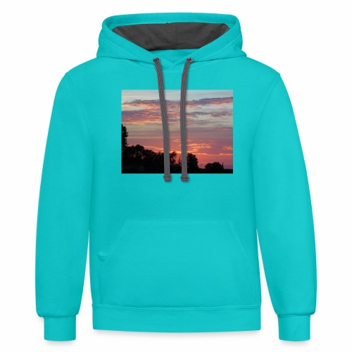 Sunset of Pastels - Contrast Hoodie