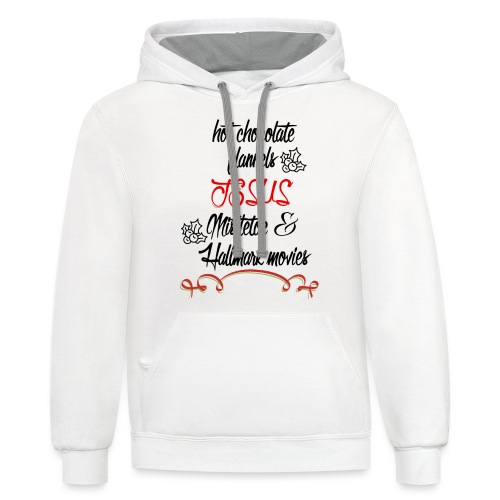 Christmas and Hallmark movies - Unisex Contrast Hoodie