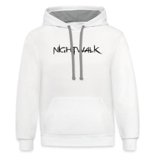 Nightwalk Logo - Contrast Hoodie