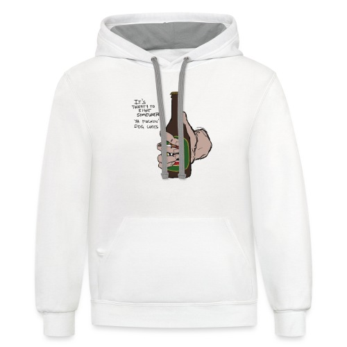 it's twenty to eight somewhere - Contrast Hoodie
