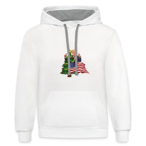Make America's Christmas Great Again - Contrast Hoodie