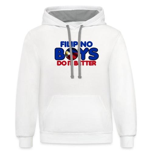 2020 Boys Do It Better 05 Filipino - Contrast Hoodie