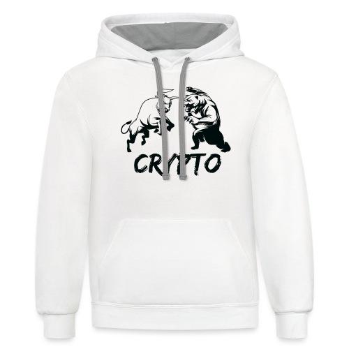 CryptoBattle Black - Contrast Hoodie
